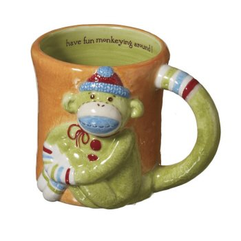 Monkeez Sock Monkey - Monkey Mug. Earthenware