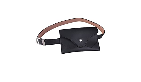 Fashion Womens PU Leather Mini Belt Bag Waist Fanny Pack Keys Phone Purse Wallet
