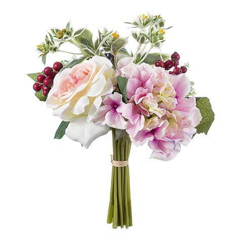 Darice Rose and Hydrangea Bouquet: 12 inches (Hydrangea Rose Bouquet)