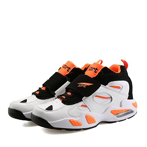 Orange Suede Shoes D M 9 Air M Velcro Lace XiaoYouYu US Court Basketball Leather Men's up Black XqBPP6zw