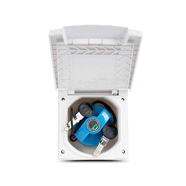 41O144ovI6L Wasseranschlussdose   abschließbar   weiß   inkl Dichtung & Schrauben   40mm