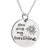 You Are My Sunshine Pendant Necklace (18 chain included)