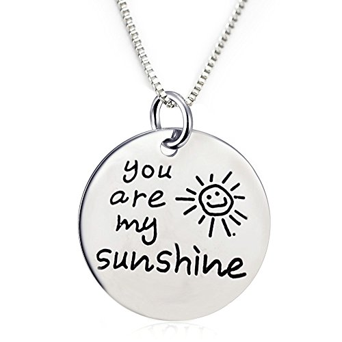 You Are My Sunshine Pendant Necklace (18
