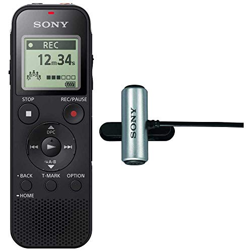 Sony ICD-PX470 Stereo Digital Voice Recorder with Built-in USB Voice Recorder w ECM-CS3 Clip-Style Mic (Sony Voice Recorder Usb)