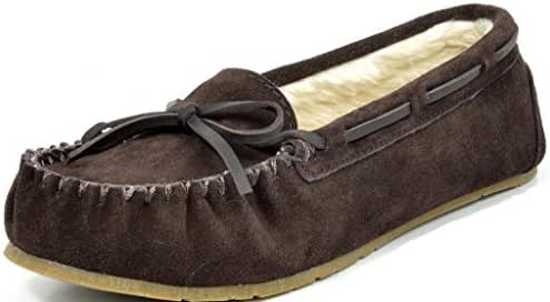 DREAM PAIRS SHOZIE New Women's Winter Faux Fur Comfort Soft Slip On Lady Slipper Flats Shoes