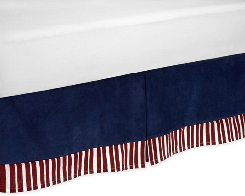 Sweet Jojo Designs Red, White & Blue Vintage Aviator Queen Kids Children's Bed Skirt by Sweet Jojo Designs