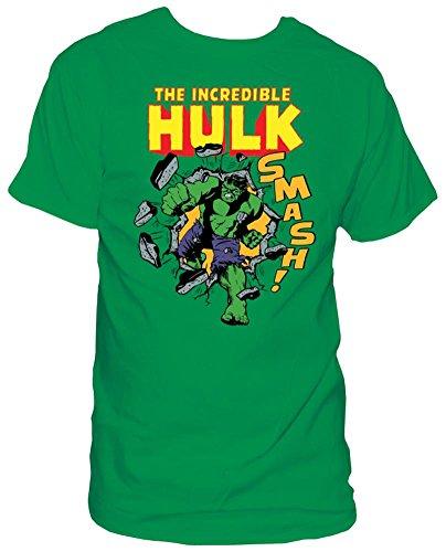 Marvel Comics The Incredible Hulk Smash! Adult Tee Shirt L