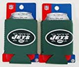 SET OF 2 NEW YORK JETS NFL CAN KADDY KOOZIES For Sale