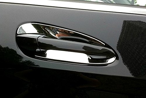 Chrome Door Handle Inserts Cup trim Fit For Mercedes-Benz C W204 GLK X204 ML GLE GL GLS Class W166 X166 2013 2014 2015 2016 2017 2018