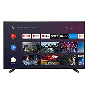 "Sharp 55"" Class 4K Ultra HD (2160P) Android Smart LED TV with Dolby Vision HDR LC-55Q7530 (Renewed)"