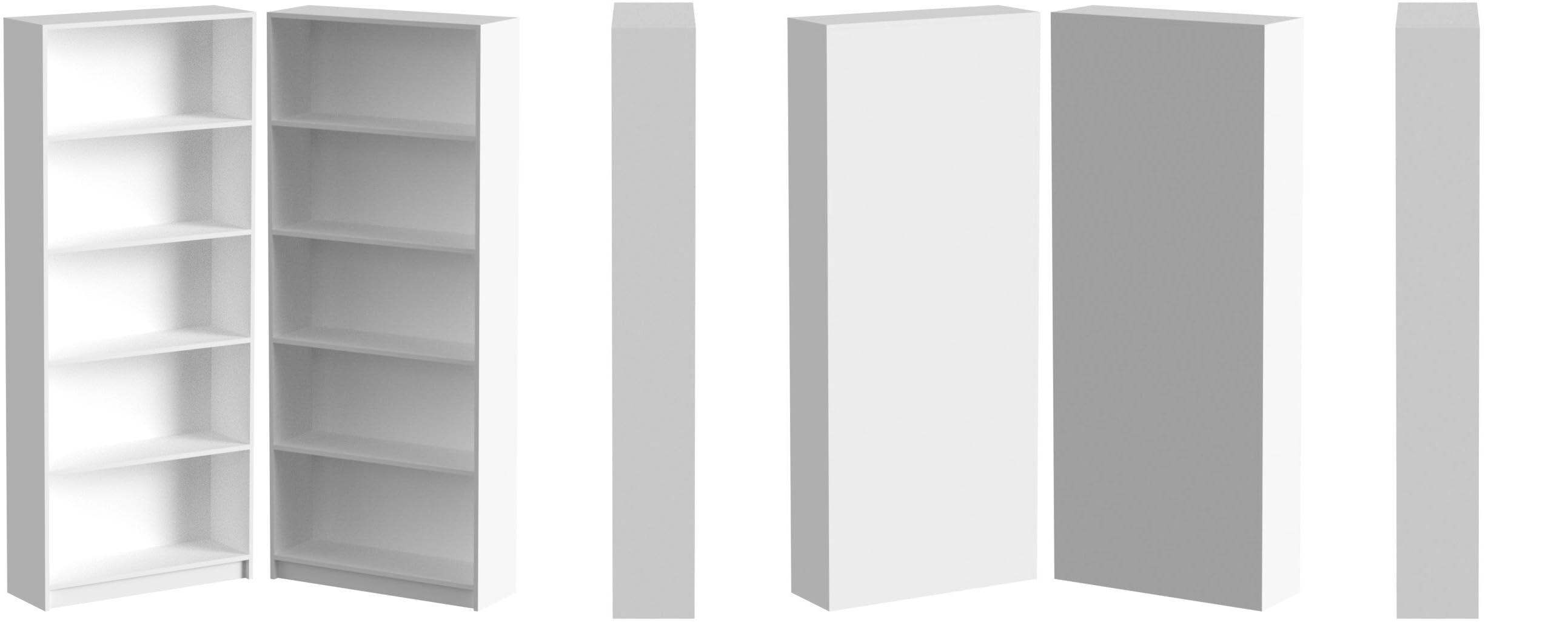 Estantería Alta 5 Estantes, Color Blanco, Medidas: 180 x 75 x ...