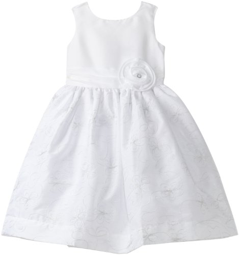 Hartstrings Little Girls' Toddler Embroidered Taffeta Sleeveless Dress, White, 2T - Hartstrings Sleeveless Dress