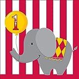 Circus temps serviettes en Papier Motif anniversaire