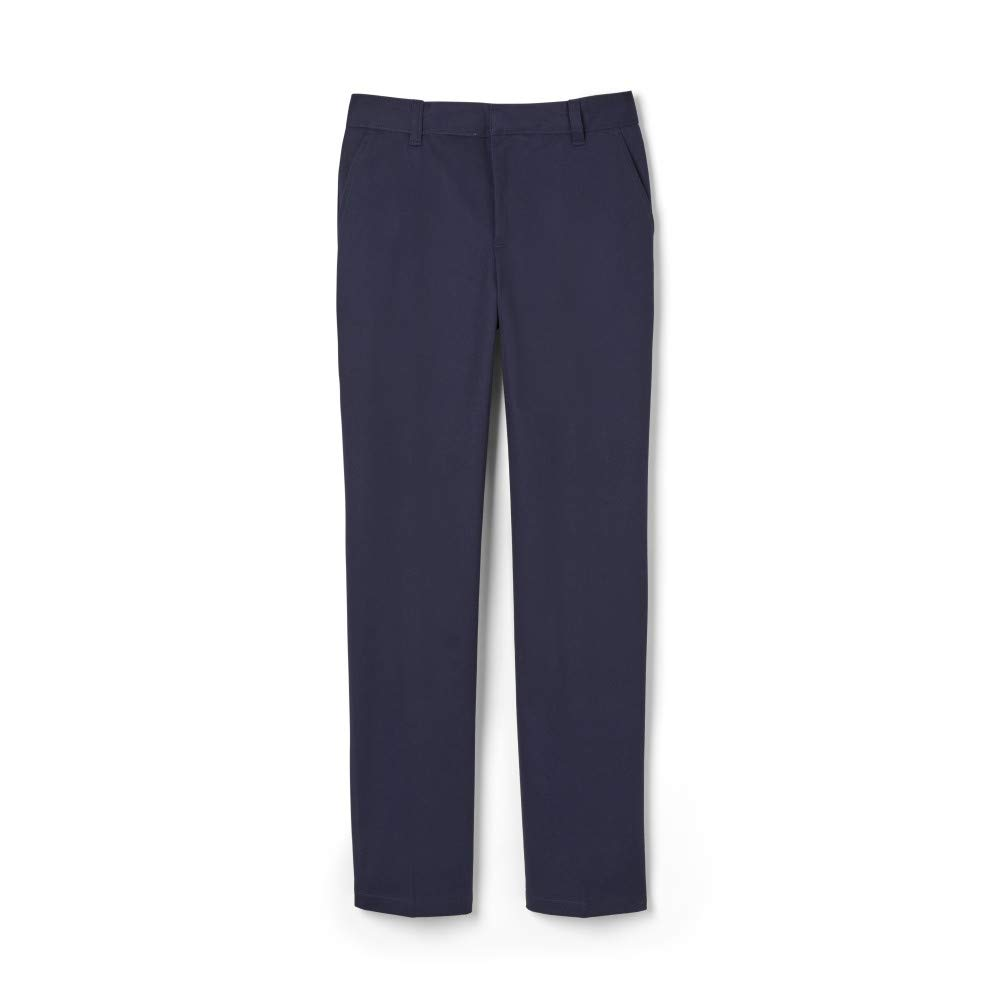 French Toast Boys' Big Relaxed Fit Twill Pant, Navy, 16H