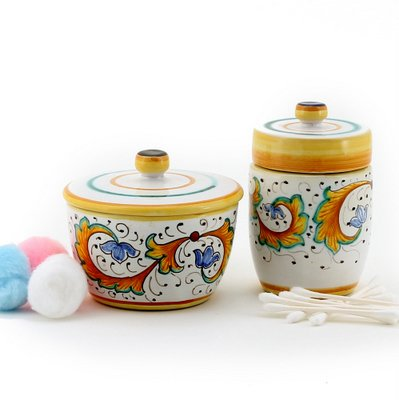 PERUGINO: Cotton Balls Jar and Cotton Swab Holder [9517-PER - 9518-PER] [#9517.9518-PER] by PERUGINO Collection