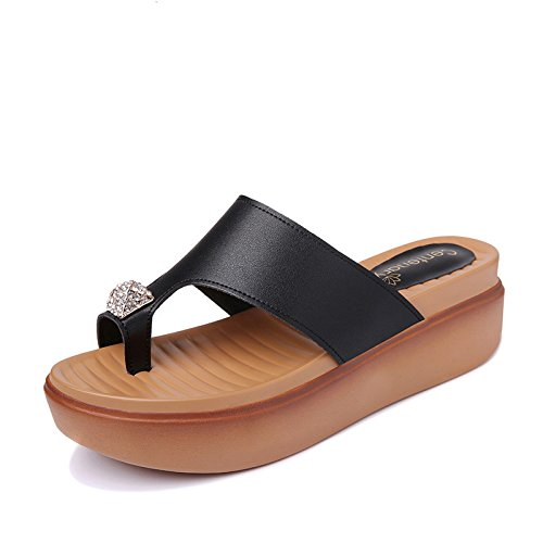 Beach HGTYU Slippers Summer The During Drag Shoes Keeping Wear Peace Set And Flat And Operations The To Outdoor And Thick Base Comfortable The A Drop Shoes Black Of wHrqwndC