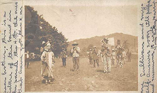 People playing instruments in a field Postcard Writing on Back