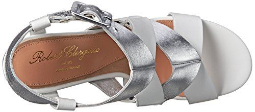 Robert Clergerie Women's Liissia Dress Sandal White Leather Calf good selling IKJNn