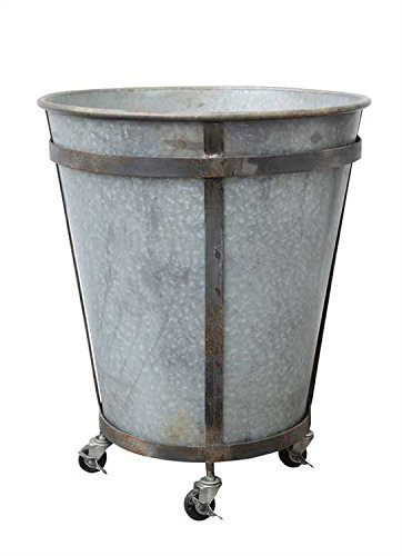 Rolling Galvanized Tin Planter