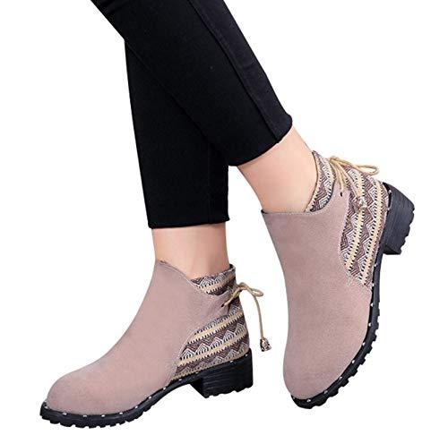 FMWLST Stiefel Stiefeletten Keil Keil Keil Mit Tief Ausgeschnittenen Reißverschluss In Der Röhre Martin Stiefel Dicke Ferse Schuhe Damen Stiefel Damen Schuhe 157c92