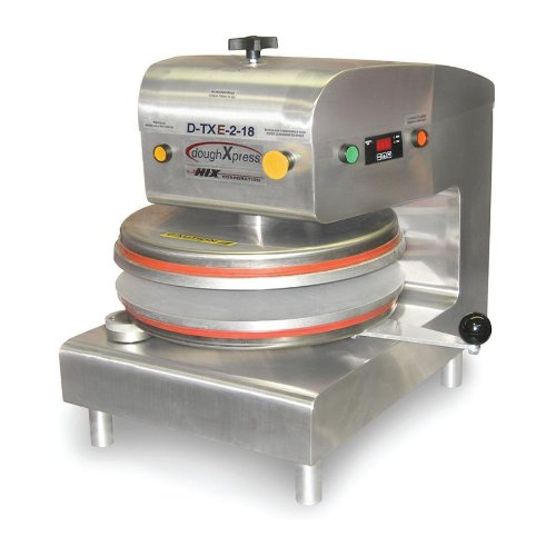 DoughXpress D-TXE-2-18 Stainless Steel Commercial Electromechanical Dual-Heated Press with 18'' Platens, 220V, 18-3/16'' Width x 25-1/8'' Height x 24-11/16'' Depth