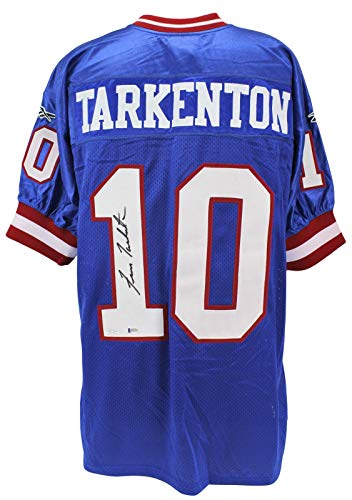 Fran Tarkenton Signed Jersey - Giants Blue Reebok BAS #H92215 - Beckett Authentication - Autographed NFL Jerseys