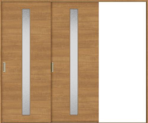 ラシッサS 室内引戸 Vレール方式 片引戸2枚建て ASKD-LGB 鍵なし 2420 W:2,432mm × H:2,023mm ノンケーシング / ケーシング LIXIL リクシル TOSTEM 本体/枠色:クリエダーク(DD) 勝手:左勝手 枠種類:180mm幅(ノンケーシング枠) 引手:引手(シャインニッケル) 敷居:埋込敷居(A枠) 機能:ブレーキ LIXIL リクシル TOSTEM トステム