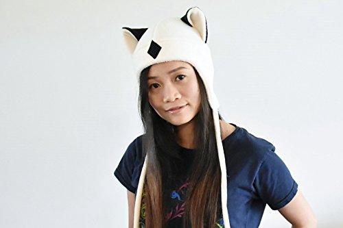 Inuyasha Fleece Cap (Inuyasha - KIRARA hat - Aviator Hat - Earflap Cat Hat - KIRARA Fleece Hat - Cat Ear Hat - Kirara Ears- Cosplay Kirara Hat - Anime Cosplay)