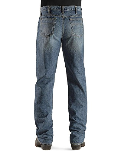 Cinch Men's Jeans White Label Relaxed Fit Medium Stonewash Light Stone 38W x 36L