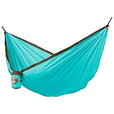 LA SIESTA Colibri Turquoise - Single Travel Hammock with Suspension: Sports & Outdoors [5Bkhe1007685]