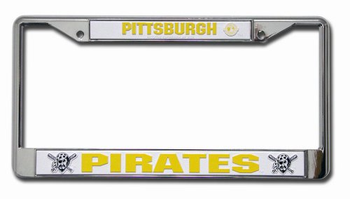 - MLB Pittsburgh Pirates Chrome License Plate Frame