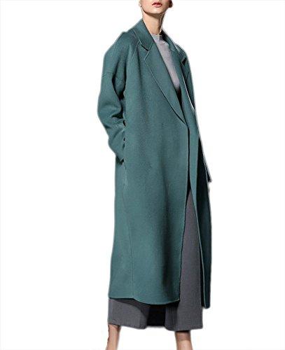 Casual Slim Rosso Abiti autunno in Suit Green Outwear L lana bifacciale Ispessimento M inverno Capispalla lunghi Giacca Giacca Nero vento in Fit cashmere a S Verde XL donna Cappotto qHwqaTF