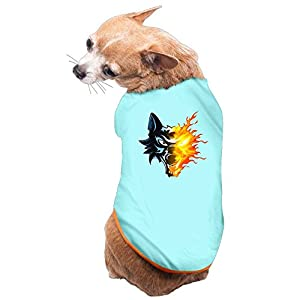 SkyBlue Pet Shirt,Soft Puppy Pet Vest Summer Sweatshirt Printed Dog Clothes Cute T Shirt For Dog WOLF DREAMS S