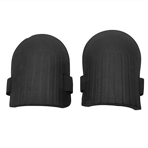 Foam Knee Pads (1 Pair Flexible Soft Foam Kneepads Protective Sport Work Gardening Builder Black)