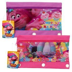 Enlarge Image Dreamworks Trolls 3-Ring Pencil Pouch - Asst- 2 Pack