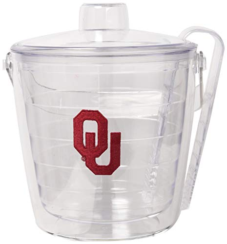 (Tervis 1007658 Oklahoma Sooners Logo Ice Bucket with Emblem and Clear Lid 87oz Ice Bucket, Clear)