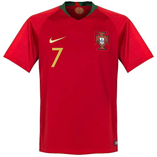 (NIKE Portugal Home Ronaldo Jersey 2018/2019 Size Adult Medium)