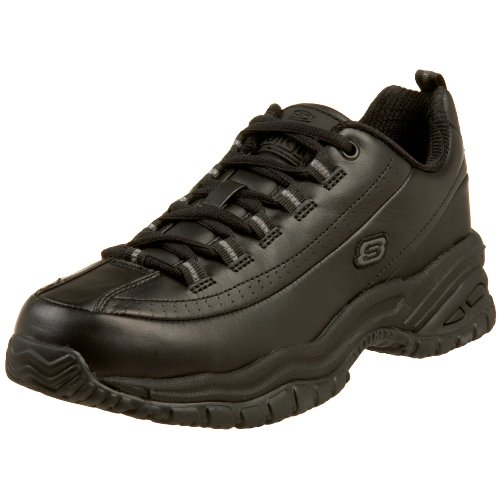 Skechers for Work Women's Soft Stride-Softie Lace-Up, Black, 8.5 B - Medium