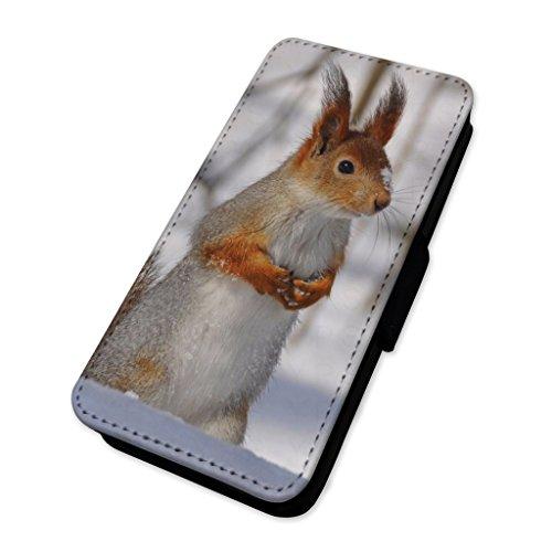 Cute Snow Squirrel–Custodia ad aletta in pelle copertura di carta Apple Iphone 6 Plus/6s Plus