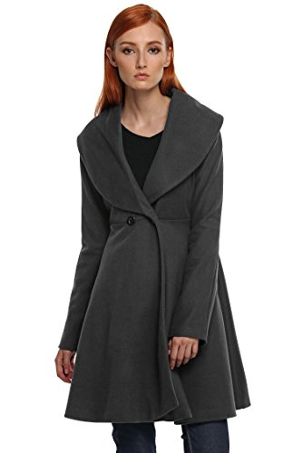ANGVNS ladies Wool Cashmere Wrap Plus Size Wool Blend Walking Coat