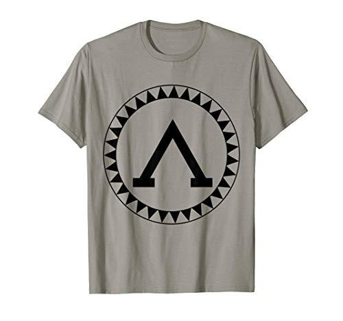 Spartan Shield T-Shirt Sparta Iliad Ancient Greece Greek