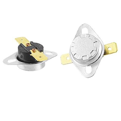 2pcs KSD301 250V 10A Temperature Control Switch Thermostat 75C Celsius (Termostato Di Sicurezza)