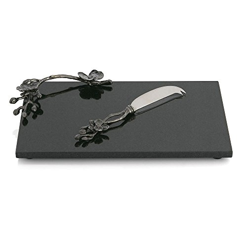 Michael Aram Black Orchid Cheese Board with Knife, Small