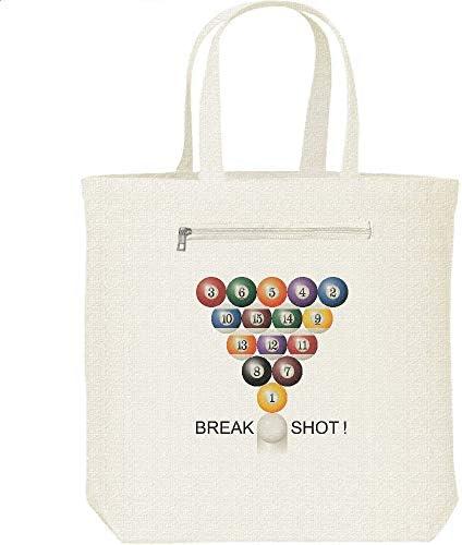 エムワイディエス(MYDS) BREAK SHOT!(ビリヤード)/キャンバス トートバッグ・ファスナー ポケット付