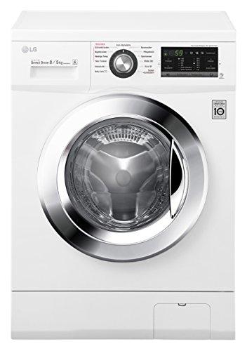 LG Electronics F 14G6 TDM2NH Waschtrockner / A /1088 kWh/Jahr / 1400 UpM / 8 kg / 11200 L/jahr / Digitaldisplay mit Restzeitanzeige / weiß