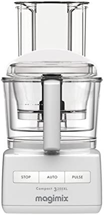 Magimix Compact 3200 XL 650W 2.6L Color blanco - Robot de cocina (2,6 L, Color blanco, Botones, 650 W, 190 mm, 225 mm): Amazon.es: Hogar
