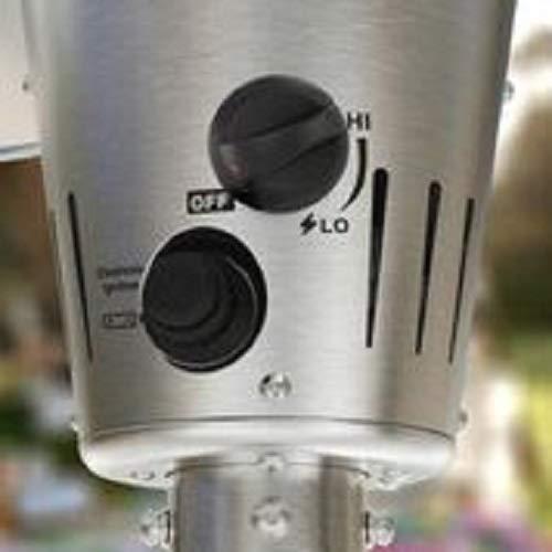 Sahara Gas Outdoor Patio Heater Silver