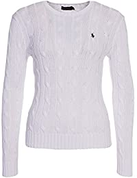 Ralph Lauren Women\u0027s Cable Knit Crew Neck Sweater. Polo Ralph Lauren