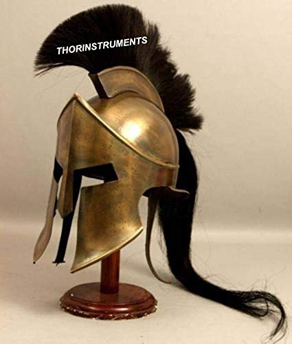 Armor King Leonidas 300 Spartan Helmet Replica Halloween Costume with Stand -