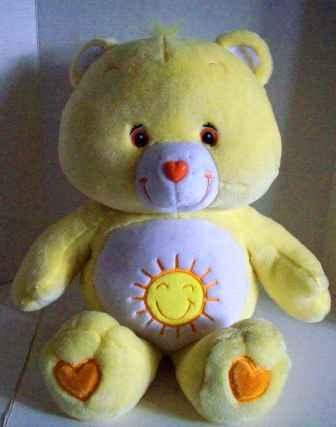 Care Bear Funshine Plush Super Large 26 Inches Tall By 21 Inches Wide